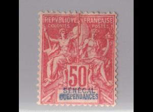 Senegal: 1892, Kolonial-Allegorie 50 C.