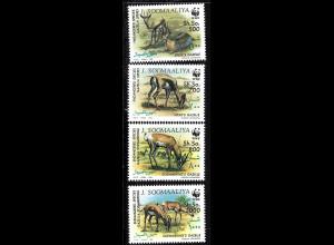 Somalia: 1992, Überdruckausgabe der WWF-Ausgabe Gazellen