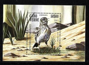 Kap Verde: 1981, Blockausgabe Vögel