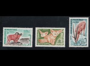 Mauretanien: 1960, Freimarken Einheimische Motive (alle Marken mit Motiv Tiere aus Satz 163/76)