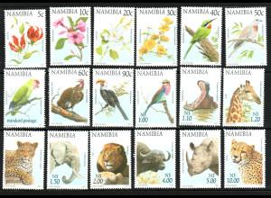 Namibia: 1997, Freimarken Blumen und Tiere
