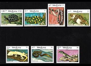 Laos: 1984, Reptilien