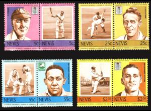 Nevis: 1984, Zusammendruckpaare Kricketspieler