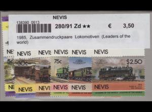 Nevis: 1985, Zusammendruckpaare Lokomotiven (Leaders of the world)