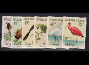 Venezuela: 1961, Freimarken Vögel