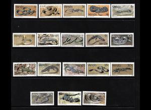 Venda (Südafrikanisches Homeland): 1986, Freimarken Reptilien mit Ergänzungswert 14 C.