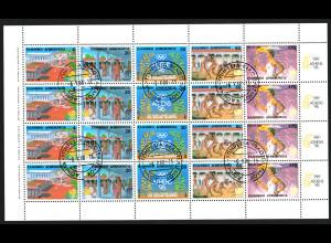 Griechenland: 1988, Zusammendruck-Kleinbogen Sommerolympiade