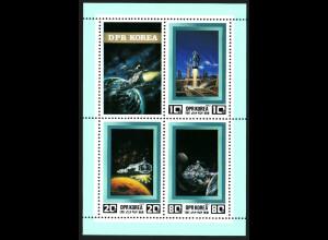 Nordkorea: 1982, Blockausgabe Raumfahrt der Zukunft (Einzelstück)