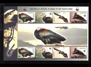 Lesotho: 2004, Kleinbogen Glattnackenibis (WWF-Ausgabe)