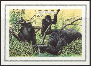 Ruanda: 1985, Blockausgabe Berggorilla