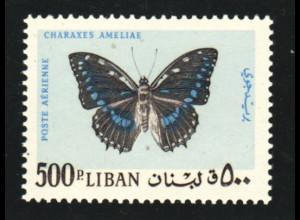 Libanon: 1965, Schmetterlinge 500 Pia. (Höchstwert, M€ 50,-)