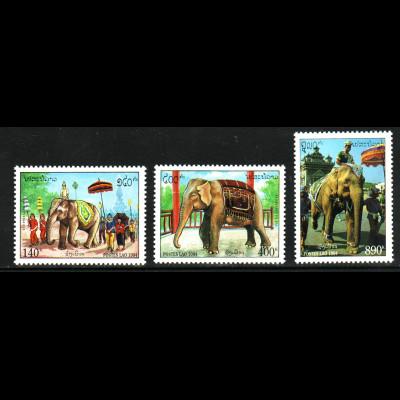 Laos: 1994, Der weiße Zeremonienelefant