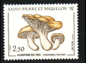 St. Pierre und Miquelon: 1987, Wiesenschneckling (Pilze)