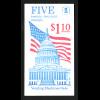 USA: 1985, Markenheftchen Flagge über Kapitol (1,10 $, Kat.-Nr. 1739)