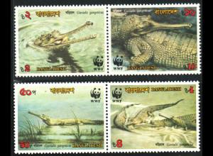 Bangladesch: 1990, Gangesgavial (Krokodil, WWF-Ausgabe)
