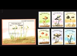 Benin: 1996, Pilze (Satz und Blockausgabe)