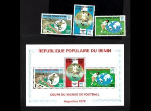 Benin: 1978, Fußball-WM Argentinien (Satz und Blockausgabe)