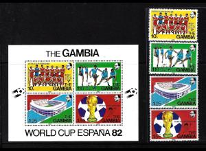 Gambia: 1978, Fußball-WM Argentinien (Satz und Blockausgabe)