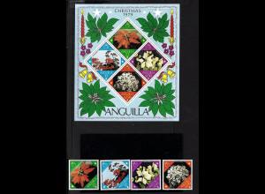 Anguilla: 1979, Blumen (Weihnachtssterne, Satz und Blockausgabe)