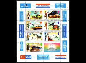 Antigua und Barbuda / Barbuda: 1974, Blockausgabe Weltpostverein