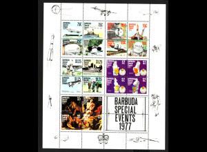 Antigua und Barbuda / Barbuda: 1977, Blockausgabe Jahresereignisse (auch Motiv Weltraum