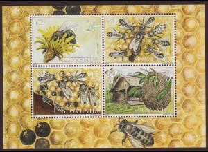 Slowenien: 2001, Blockausgabe Honigbiene