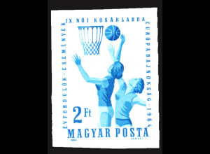 Ungarn: 1964, Damenbasketball-EM (ungezähnt)