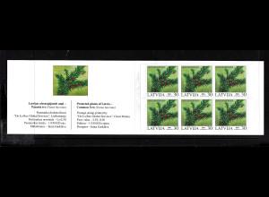 Lettland: 2003, Markenheftchen Pflanzen (Eibe)