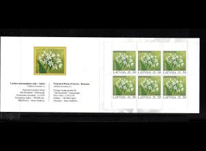 Lettland: 2005, Markenheftchen Geschützte Pflanzen (Bärlauch)