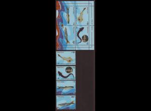 Nepal: 1993, Fische (Satz und Blockausgabe)