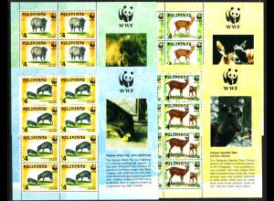 Philippinen: 1997, WWF-Ausgabe (als Kleinbogensatz mit 4 KB zu je 8 Marken)
