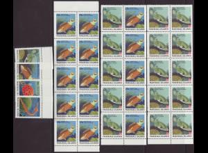 Marshall-Inseln: 1988, Freimarken Fische (Satz gezähnt sowie 3 Heftchen-Bl.)