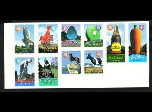Neuseeland: 1998, Folienblatt Städtewahrzeichen