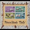 Pitcairn: 1974, Blockausgabe Meeresschnecken und Muscheln