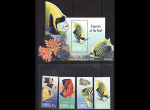 Samoa: 2003, Fische (Satz und Blockausgabe)