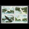 Palau-Inseln: 1984, Viererblock Vögel