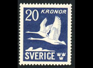 Schweden: 1942, Freimarke Schwäne (allseitig gezähnt, Falz)