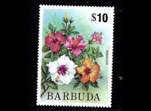 Antigua und Barbuda / Barbuda: 1975, Freimarke Hibiscus 10 $