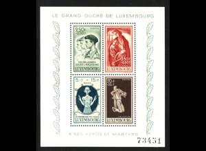 Luxemburg: 1946, Blockausgabe Kriegsgeschädigte