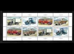 Island: 1992, Kleinbogen Postautos