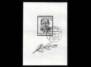 Tschechoslowakei: 1957, Blockausgabe A. Zapotocky