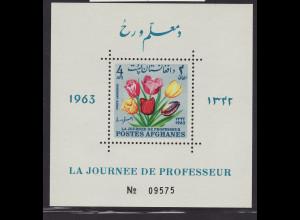 Afghanistan: 1964, Blockausgabe Blumen