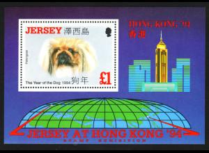 Jersey: 1994, Blockausgabe Pekinese