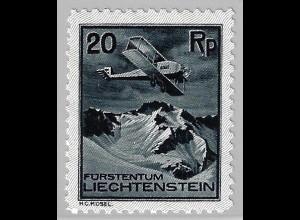 Liechtenstein: 1930, Flugzeuge 20 Rp. (postfrisches Einzelstück, M€ 80,-)