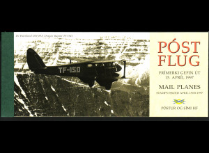 Island: 1997, Markenheftchen Postflugzeuge