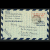 Bizone: 1948, Luftpostfaltbrief 100 Pfg. nach Brasilien