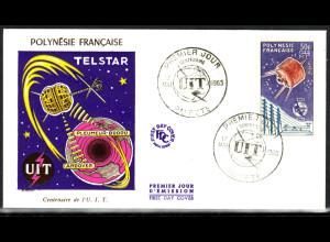 Französisch-Polynesien: 1965, Fernmeldeunion UIT (Satellit Syncom auf Schmuckersttagsbrief)