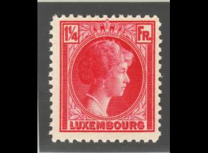 Luxemburg: Luxemburg: 1934, Freimarkenergänzung Großherzogin Charlotte 1¼ Fr.