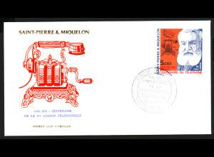 St. Pierre und Miquelon: 1976, 100 Jahre Telefon (Schmuckersttagsbrief)