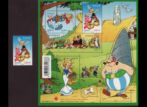 Frankreich: 2010, Asterix (Blockausgabe und Einzelmarke)